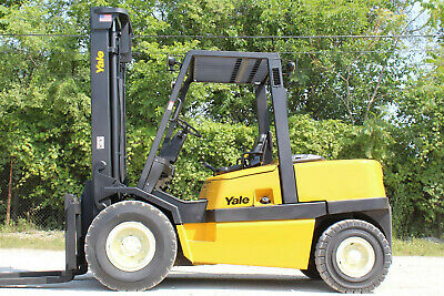 Yale Gdp100Mjn Pneumatic Forklift 10,000Lb Cap Hi Clear View 2 Stage Forklift