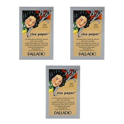 3 pack palladio rice paper tissues natural