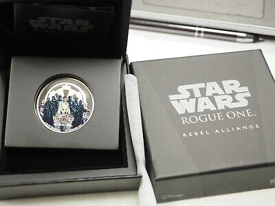 2017 Niue $2 1 oz. Proof Silver Star Wars: Rogue One Rebellion In OGP