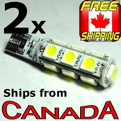 TWO 912/921(T10) Cool White LED Bulbs - 13x 5050 chips