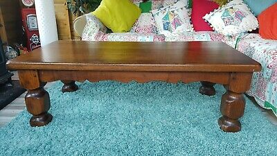 Very Heavy Real Wood Coffee Table 45 00 Picclick Uk