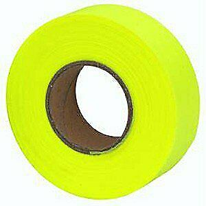 Merco M219 Glow Yellow Flagging Tape - 1-3/16in x 150 - Pack of 72 Rolls