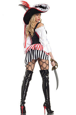 Halloween Be Wicked 6 Pc Buccaneer Women's Costume -New -Free Shipping