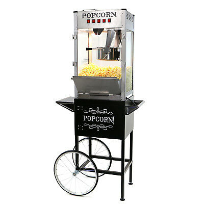 Paramount 16oz Commercial Popcorn Maker Machine & Cart - 16 oz Popper [Silver]