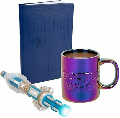 Doctor Who Sonic Screwdriver TARDIS Key Chain and Journal 3 Piece Gift Set