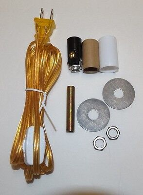 Make A Mini Lamp Kit With Candelabra Socket,Clear Gold Cord W/Line Switch 945J