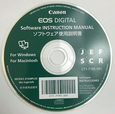 CANON EOS DIGITAL Software Instruction Manual for Windows