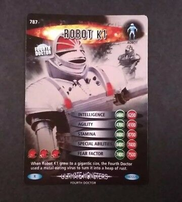 Dr Who Robot K1 #187/225 Holo Rare Ultimate Monsters Card NM/M
