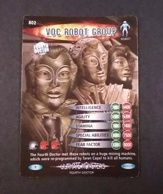 Dr Who Voc Robot Group #202/225 Holo Rare Ultimate Monsters NM/M