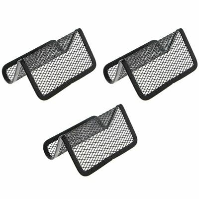 3PCS Metal Mesh Business Card Holder Stand for Desk Office Business Card Holder
