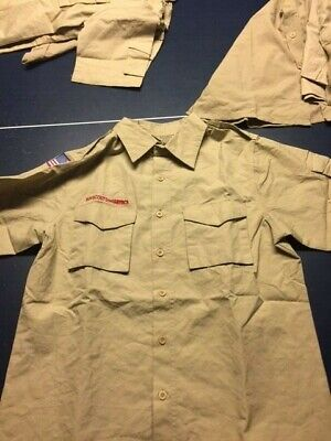 Lot Of 3 New Mens Boy Scouts Short Sleeve Shirts Size Large Free Ship