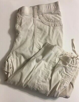 Cato Khaki Cargo Capri Pants, Size 16 with ties at legs, Cotton & Spandex