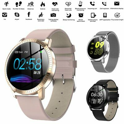 Women Bluetooth Smart Watch Wrist Phone Mate For Android Samsung IOS iPhone CA