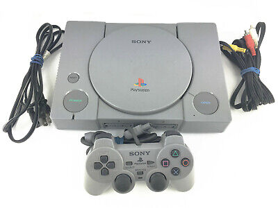 Sony PlayStation 1 Gray Console PS1 System w/ Controller & Cables SCPH-9001