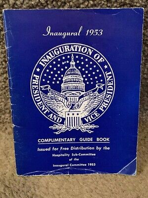 1953 Presidential Inauguration Complimentary Guide Book - Eisenhower