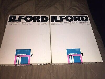 2- Ilford 100 Glossy Photographic Paper (8 x 10 In.) 20,3x25,4 cm