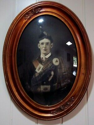 Vintage Domed Glass Photo of Scottish Soldier
