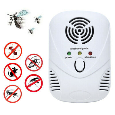 Ultrasonic Pest Repeller Plug in Electronic Repellent Rat Mouse Spider Insect xb