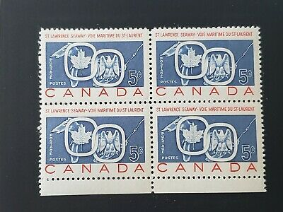 St Lawrence Seaway   Canada  # 387 Block 4 Stamps Mint Nh Og
