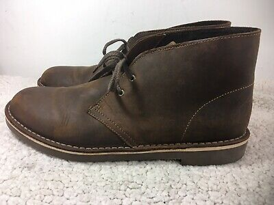 023543869d9 CLARKS MENS SZ 8.5 M Bushacre 2 Chukka Boots Beeswax Brown Leather ...