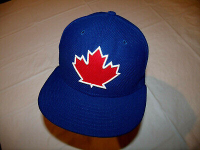 Toronto Blue Jays Maple Leaf Hat Thin Polyester Back New Era 59Fifty Fitted 7