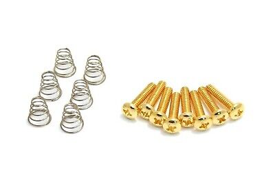 8 GOLD Screw for Fender Strat Tele Guitar Single Coil Pickup Switch Mounting USA
