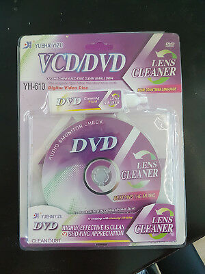 PROFESSIONAL DVD VCD CD CD-Rom Lens Cleaner - Clean Portable DVD's