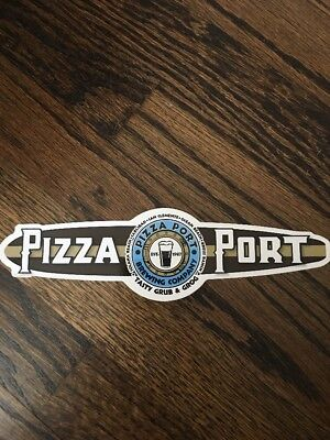 Craft Beer Sticker~ PIZZA PORT Brewing Co ~ Southern CALIFORNIA~ Beer Decal