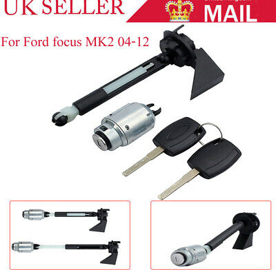 1355231 Front Bonnet Release Lock Repair Kit Latch and 2 Keys For Ford Focus MK2