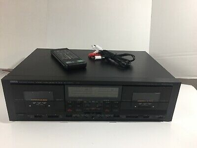 Yamaha Natural Sound Stereo Dual Twin Cassette Dolby Deck Player Record KX-W900U