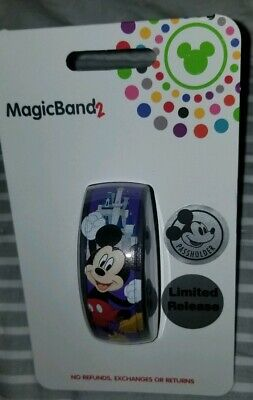 NEW Disney Parks Mickey Mouse Annual Passholder 2019 PURPLE Magic Band 2 LIMITED