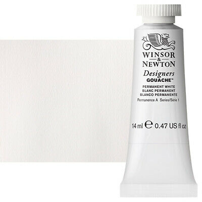 Winsor & Newton Designers Gouache 14 ml Tube - Permanent White