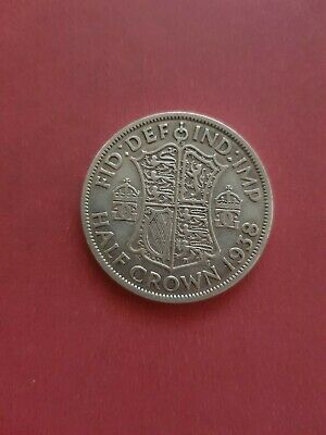 UK 1938 Half Crown  (500 Silver)