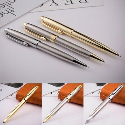 Portable Twist Ballpoint Pens Stainless Steel Retractable Ball 1.0mm Fine Point