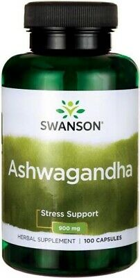 Swanson Ashwagandha 450mg x 100Cap Stress & Fatigue Relief Anxiety Fatigue Immne