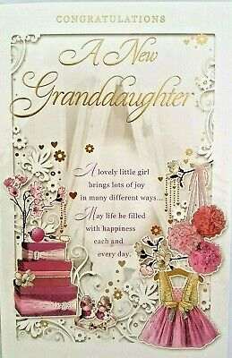 On The Birth Of Your Granddaughter Pram Toys Design Modern Birth New Baby Card