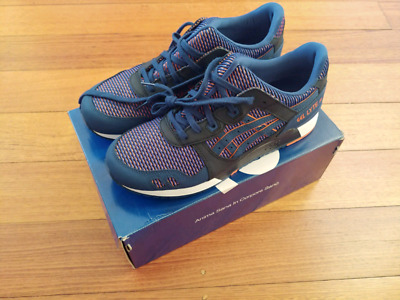 21e73d45134a1 BNWT ASICS TIGER GEL LYTE III Sneakers Mens US 11 Blue Print Orange  Chameleoid