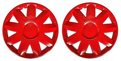 "OUTLET 2x14"" Wheel trims wheel cover for Caravan Trailer Jupiter 14""  red colour"