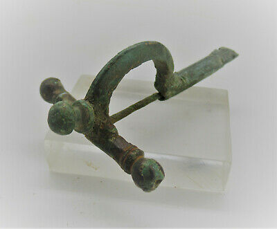 Circa 300-400Ad Ancient Roman Imperial Bronze Crossbow Fibula Brooch