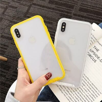 Candy Color Clear Cases For iPhone XS Max X 8 7 6s TPU + Acrylic Hard Back Cover
