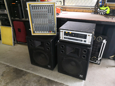 PA Sound System EV Soundcraft Perreaux Good Working Condition