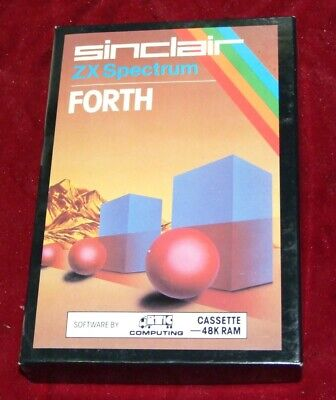 FORTH programming language app for Sinclair ZX Spectrum on cassette tape