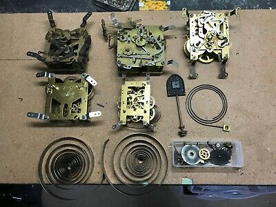 Assorted Clock Movements and Parts