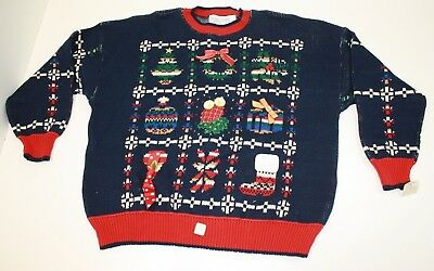 Womens Vintage 90's Sweater Loft Ugly Christmas Sweater 1X Red 3D Bows NWT