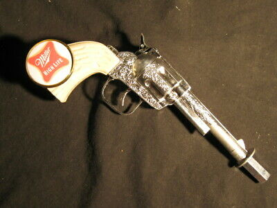 beer tap handle old western six shooter miller high life