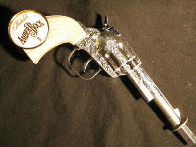 beer tap handle old western six shooter michelob