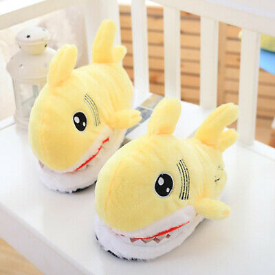 1 Pair 3D Shark Shape Novelty Slippers Animal Funny Indoor Home House Shoes UK