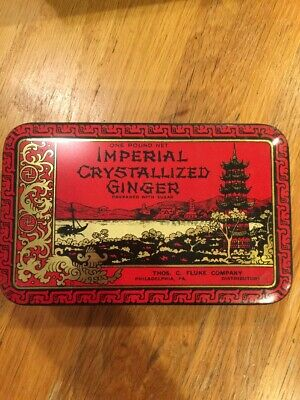 Vintage Imperial Crystallized Ginger Tin- One Pound~ Philadelphia Pa