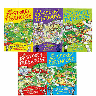 Andy Griffiths & Terry Denton 13-Storey Treehouse Collection 4 Books Set NEW