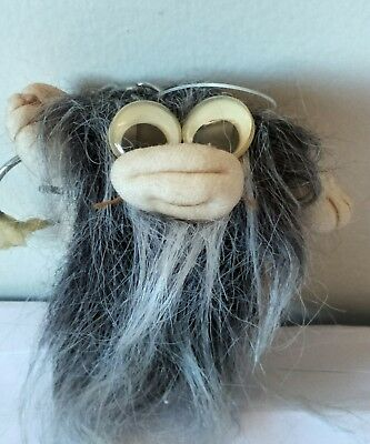 Weird Collectable Vintage Funny Humour Naughty Beard Hairy Fluffy keyring Toy